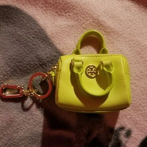 Tory Burch leather coin purse/key chain